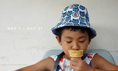 連續21天的生活日記印花圖案設計