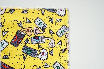 黃湯下肚的生活日記圖案印花設計