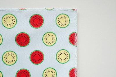 大紅西瓜與小玉西瓜印花設計
