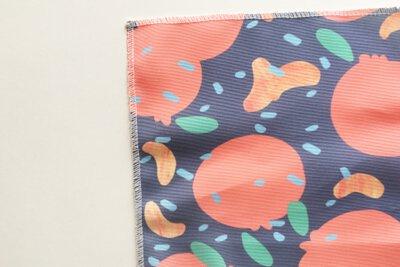 冬日暖陽下的橘子印花設計