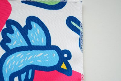賽德克口傳故事懶惰鴿子的印花設計