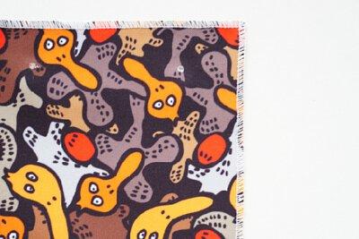 台灣鍋物薑母鴨的印花文化創意圖案設計