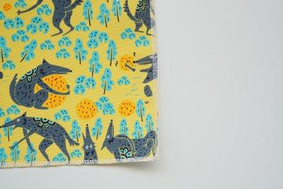 台灣原創設計,台中太陽餅與太郎的印花設計_黃色