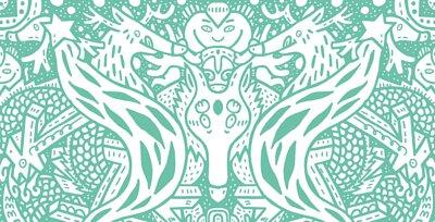 繪製鹿的圖案來代表了『 升官 』的吉祥之意