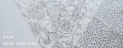 花系列印花布,設計黑白稿