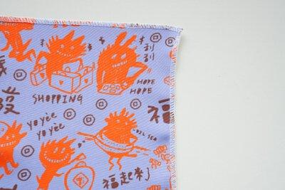 台灣春節的創新年獸印花設計