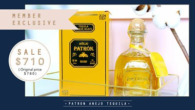 Member Exclusive-Patron Anejo Tequila
