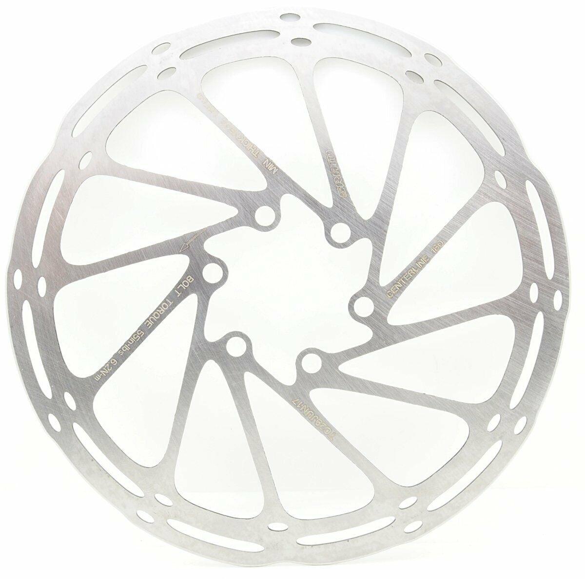 NIB AVID Sram Centerline Disc Brake 6-Bolt Rotor w// ROUNDED Edges 160mm