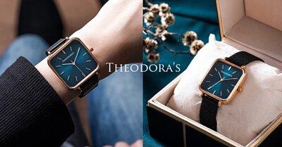 bluishgreen,squarewatch, theodora's, theodoras, watch