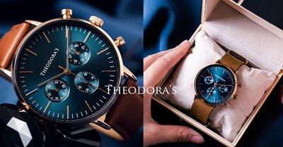 bluishgreen, apollo, chronograph, oiltanned, leather