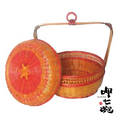 【呷七碗】彌月加購品-竹編傳統謝籃