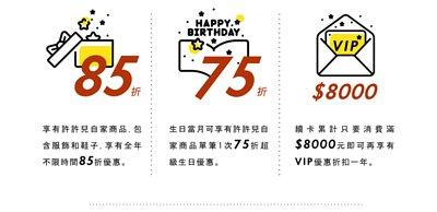 VIP會員享有的優惠說明