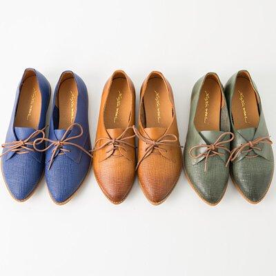 木刻時光牛津鞋
