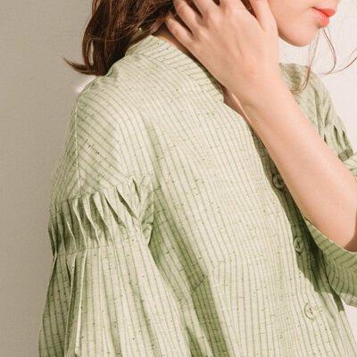 青楓翅果立體折紋襯衫