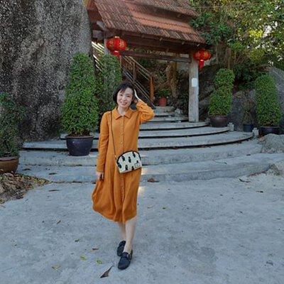 古樸秋橘排釦兩穿洋裝