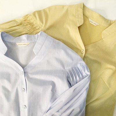 青楓翅果立體折紋襯衫新色