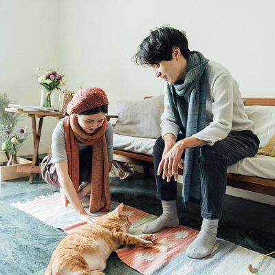 {品牌選物-𦀗𦀗}冬日印象派配色混紡羊毛圍巾