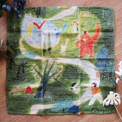 Mia柔棉印畫作品手帕