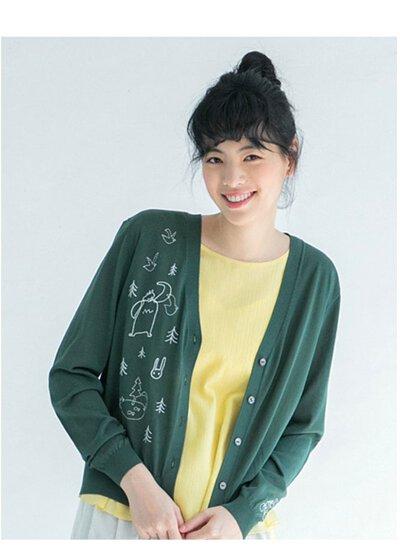 Mia針織聯名散步外套-綠