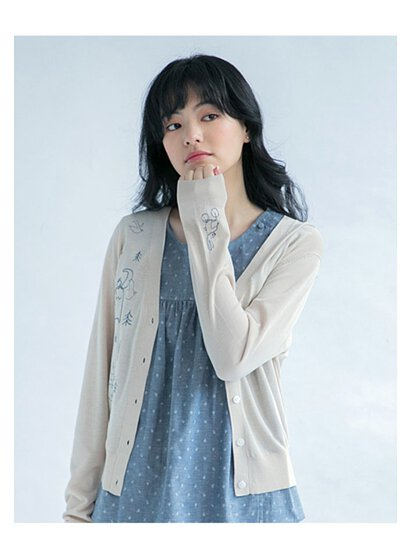 Mia針織聯名散步外套-米