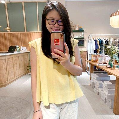 光之翼小蓋袖造型上衣-檸光黃