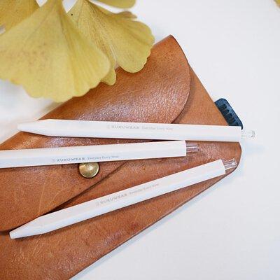 許許兒品牌膠墨筆3入組-純白系0.5mm