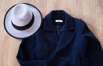 綿羊毛呢紳士帽-紫