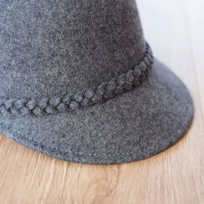 綿羊毛呢報童帽