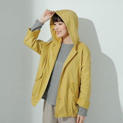 未來指南連帽涼春外套-黃色