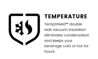 產品優勢 - 温度 - 用了雙層絕緣不鏽鋼製成可保暖和保冷