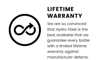 Hydro Flask產品提供終身保養服