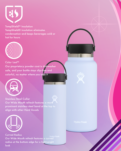 The new version of Hydro Flask wide mouth series
