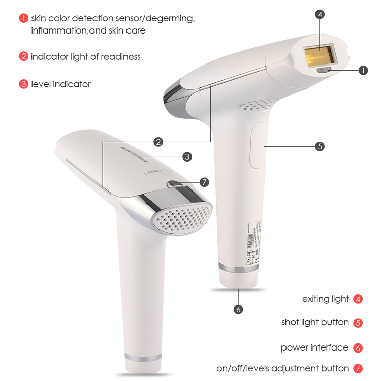 Laser IPL Facial & Body Permanent Hair Removal Machine