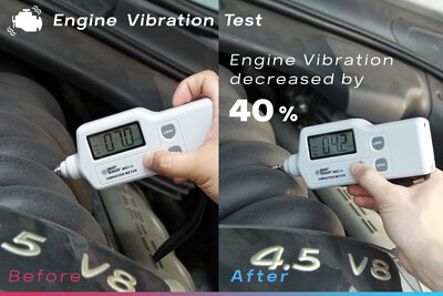 super nano remetaliser porsche cayenne s engine vibration test