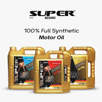 super resurs 100% full synthetic engine motor oil 5w30 5w40 0w40