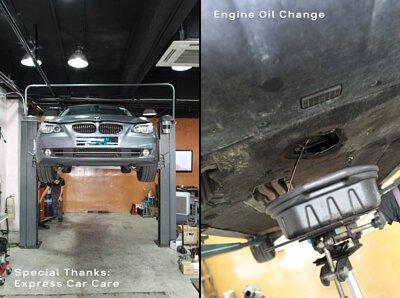 express car care bmw 525i engine oil change super resurs