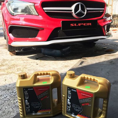mercedes benz cla45 super resurs engine oil 5w40 low shot