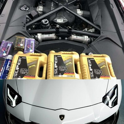 lamborghini huracan super ester plus 0w40 motor oil engine oil maintenance
