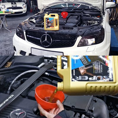 mercedes-benz c200 engine motor oil 5w30 super ester plus