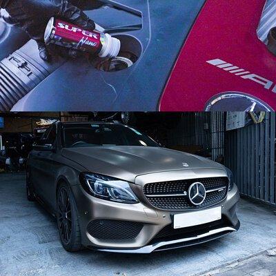 mercedes-amg c43 2016 super nano engine restorer 引擎修復劑