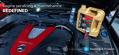 super nano engine restoration maintenance service package engine restorer flush ester plus 5w40 amg c43 oil