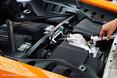 lamborghini Huracán v10 5.2l engine bay engine restorer super nano