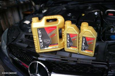 mercedes-benz c200 w204 super ester plus 5w40 motor oil