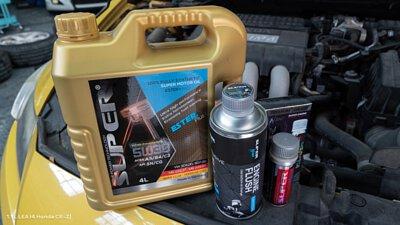 cr-z super nano engine restorer motor oil ester plus engine flush lea honda