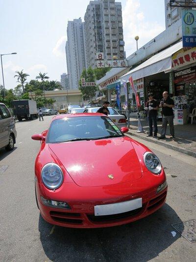 porsche 997 911 carrera s red hong kong yuen long