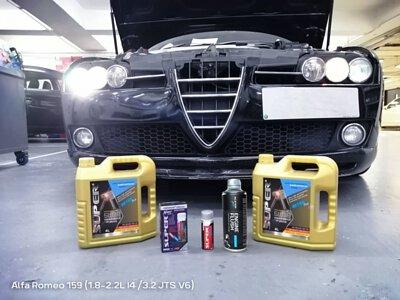 alfa romeo 159 oil change super ester plus 5w30 super nano engine restorer 引擎修復劑