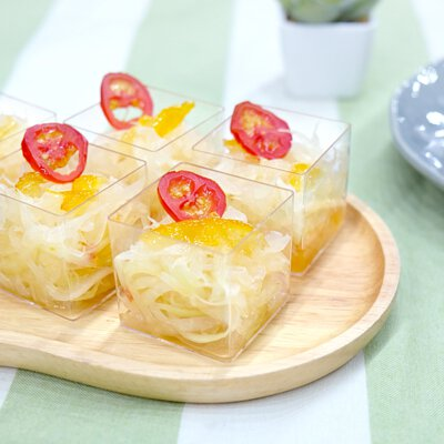 柚子青木瓜沙律|適合3-5人享用的迷你素食田園套餐|多人到會外賣套餐|Kamadelivery