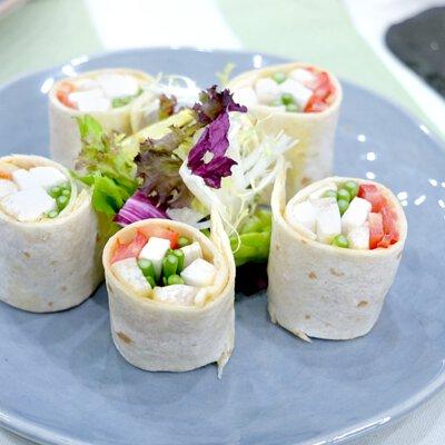 蕃茄蘆筍墨西哥卷|適合3-5人享用的迷你素食田園套餐|多人到會外賣套餐|Kamadelivery