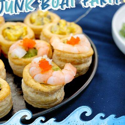 牛油果鮮蝦酥盒|適合16-18人享用的Junk Boat Party Set|船P船河派對|多人到會外賣套餐|Kamadelivery