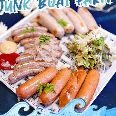 德國香腸拼盤|適合16-18人享用的Junk Boat Party Set|船P船河派對|多人到會外賣套餐|Kamadelivery